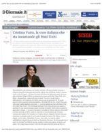 Cristina Vaira Press Release ©2017 All Rights Reserved. Cristina Vaira la voce italiana che sta incantando gli Stati Uniti. Il Giornale 7/24/2014