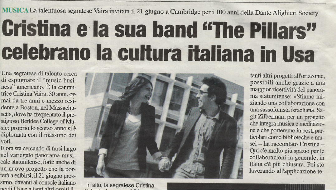 Cristina Vaira Press Release © All Rights Reserved. The Pillars su Segrate InFolio_6/25/2014